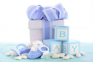 baby boy shower blue shades